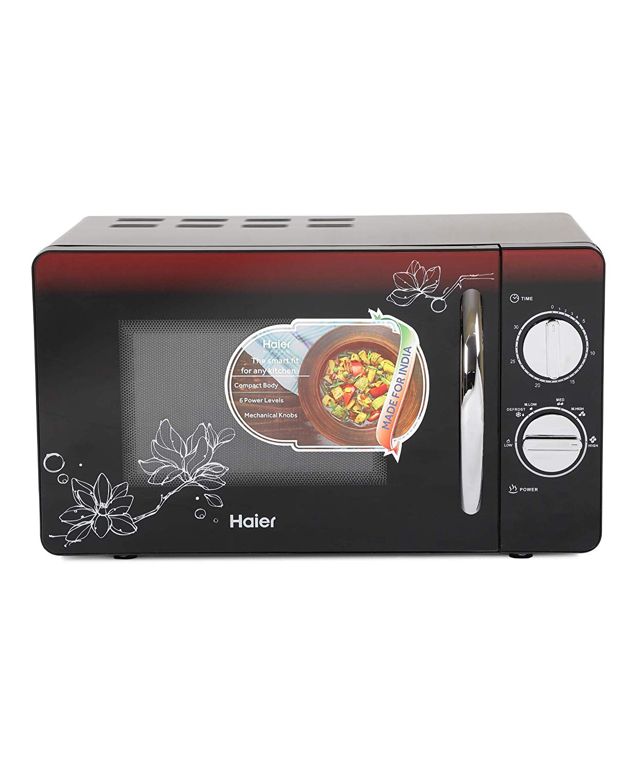 Haier 20 L Solo Microwave Oven  Black)