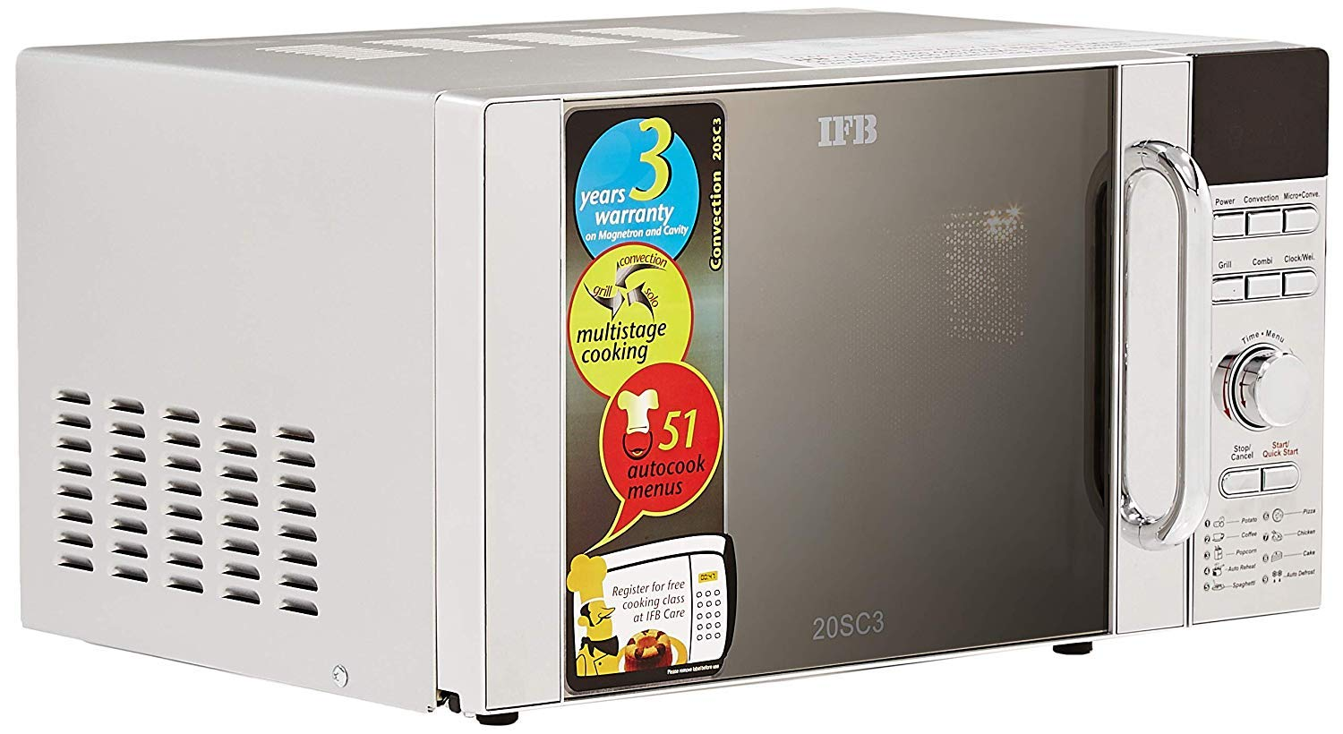 IFB 20 L Convection Microwave Oven  Metallic Silver