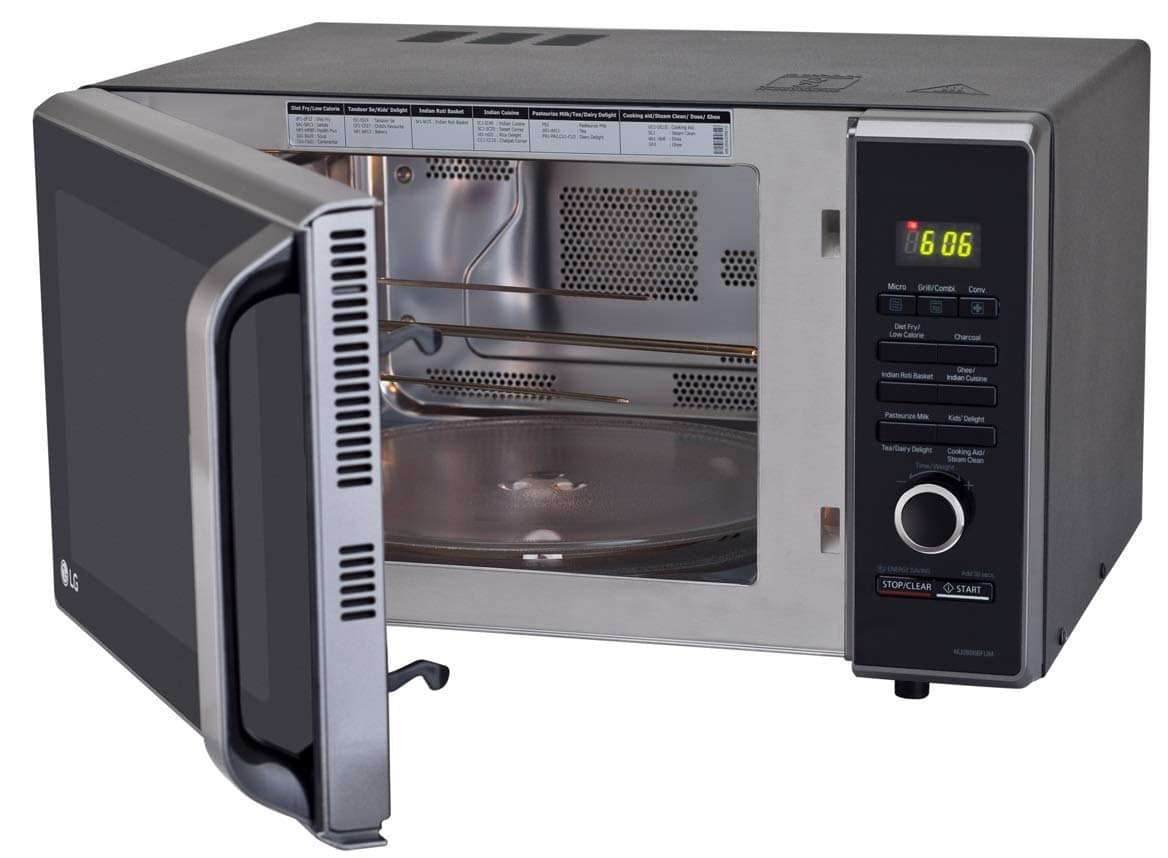LG 28 L Charcoal Convection Microwave Oven ( Black)