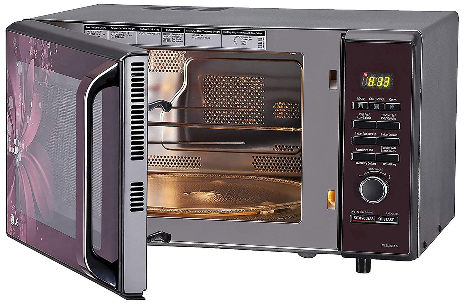 LG 28 L Convection Microwave Oven  Black)
