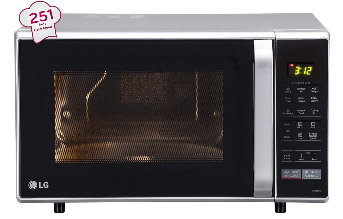 LG 28 Liters Convection Microwave Oven (Silver)