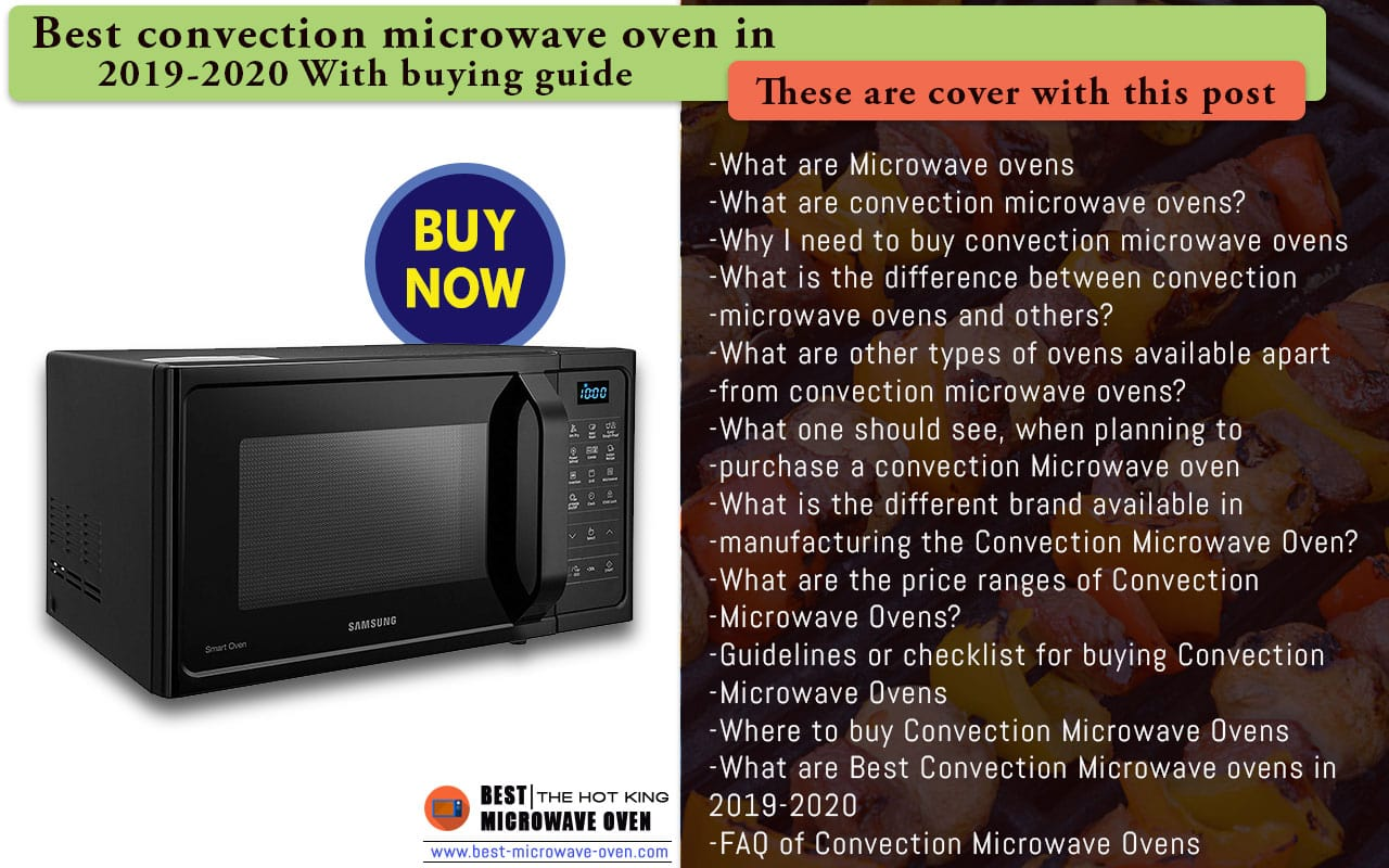 Best Convection Microwave Oven 2019 20 Top Amp Best Reviews